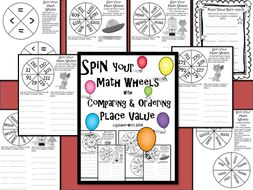 Spin Your Math Wheels Comparing and Ordering Place Value