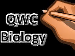QWC Questions for Biology GCSE including descriptors, markscheme and  1-9 level boundaries.