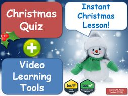 The Film Studies Christmas Quiz & Christmas Video Learning Pack! [Instant Christmas Lesson]