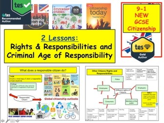GCSE Citizenship (9-1) Topic: Rights and responsibilities & Criminal age of Responsibility