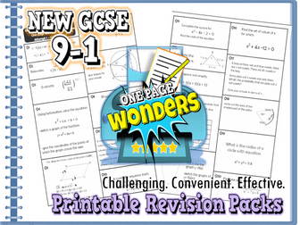 GCSE 9-1 Revision Exam Practice Maths Higher packs bundle inc. extension