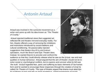 Drama Artaud Fact Sheet
