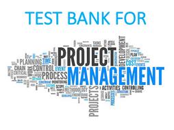 Project Management Test Bank