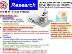 Research Pages Edexcel Guidance and Structure