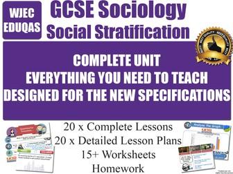 Social Stratification (20 Lessons) WJEC / EDUQAS [ GCSE Sociology ] POWER AUTHORITY - NEW 2017
