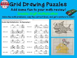 Double Digit Multiplication Worksheets: Grid Drawing Math Fun!