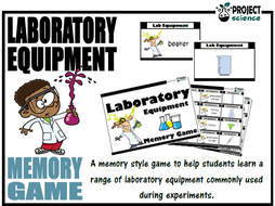 Laboratory Equipment Memory Game