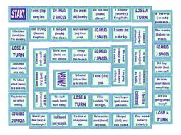 Gerunds and Infinitives Board Game
