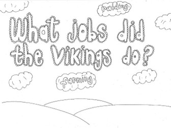 What Jobs did the Vikings do? (History) Colouring Sheet