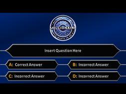 Quiz Template   Millionaire Quiz Template By Missjhross Teaching Resources Tes
