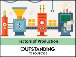 Economics Lesson - Factors of Production (+ worksheet)