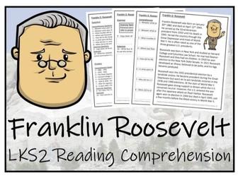 LKS2 History - Franklin Roosevelt Reading Comprehension Activity