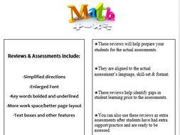 Grade 4, Math Module 4 REVIEW & ASSESSMENT w/Ans keys (printables & Smart Board)