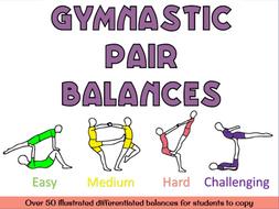 Gymnastics pair balances