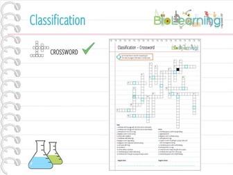 Classification - Crossword (KS3)