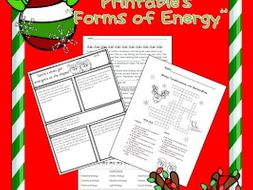 "Christmas Science ""Forms of Energy"" Printables"