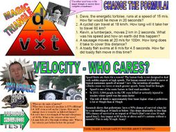 GCSE PHYSICS EMERGENCY VELOCITY SPEED  SCIENCE REVISION  LESSON WORKBOOK!