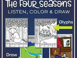 The Four Seasons Listening Glyphs - Draw or Color