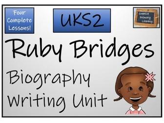 UKS2 Ruby Bridges Biography Writing Unit