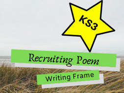 Recruiting Poem Differentiated Writing Frame