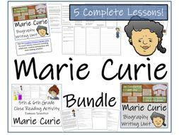 UKS2 Literacy - Bundle of Marie Curie Activities
