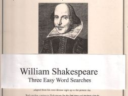 William Shakespeare Word Searches
