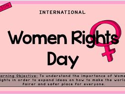 Women's Rights Day Lesson