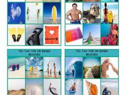 Beaches Tic-Tac-Toe or Bingo