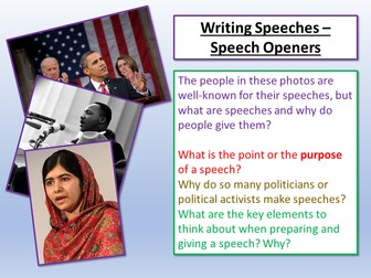 Writing Speeches - Speech Openers