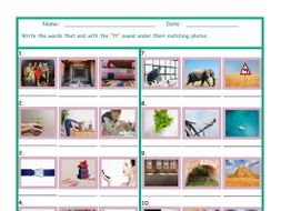 Phonics Final Consonant Cluster FT Photo Worksheet