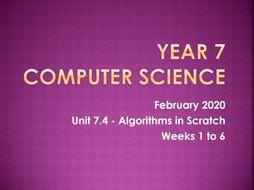 Algorithms in Scratch (6 weeks)