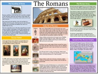 History- The Romans Overview/ Knowledge Organiser KS2