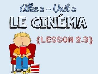 Allez 2 - Unit 2.3 - Le ciné, ma passion - perfect tense with avoir and être - KS3 French