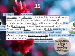 Line by Line: Shakespeare's Sonnet 35