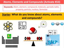 Atoms, Elements and Compounds (Activate KS3)