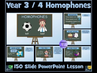 Homophones: Year 3 and 4