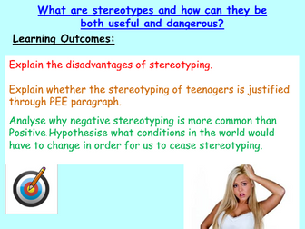 Stereotypes / Prejudice - PSHE 2020 or Citizenship Resources