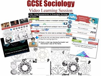 Video Learning Session - The Sociology of Family L20/20 [ AQA GCSE Sociology - 8192 ] Families NEW