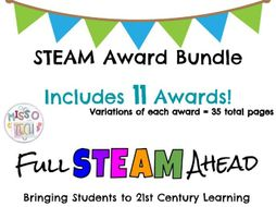 steam stem award certificate bundle