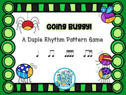 Going Buggy!  Duple Meter Rhythm Pattern Game - Koosh Ball Game