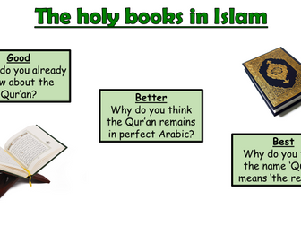 AQA A Islam Beliefs and Teachings Lesson 10 - Holy books in Islam