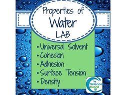 Lab: Unique Properties of Water