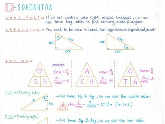 IB Maths Studies SL - Topic 5 - Geometry & Trig - Notes