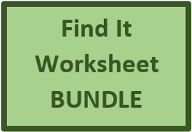 Find It Worksheets in French Bundle