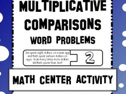 Multiplicative Comparison Word Problems