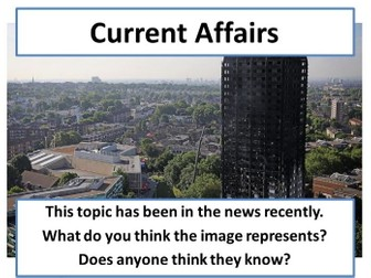 Grenfell Tower - Current Affairs Form Time Activity