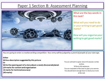 AQA English Language Paper 1 Section B Planning Lesson
