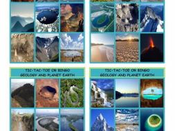 Geology and Planet Earth Tic-Tac-Toe or Bingo