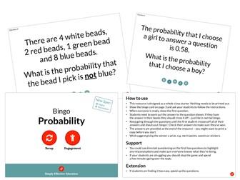 Probability (Bingo)
