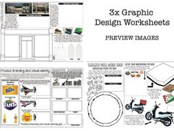 Graphic Design Worksheets - Set of 3 by RND86 - Teaching Resources ...